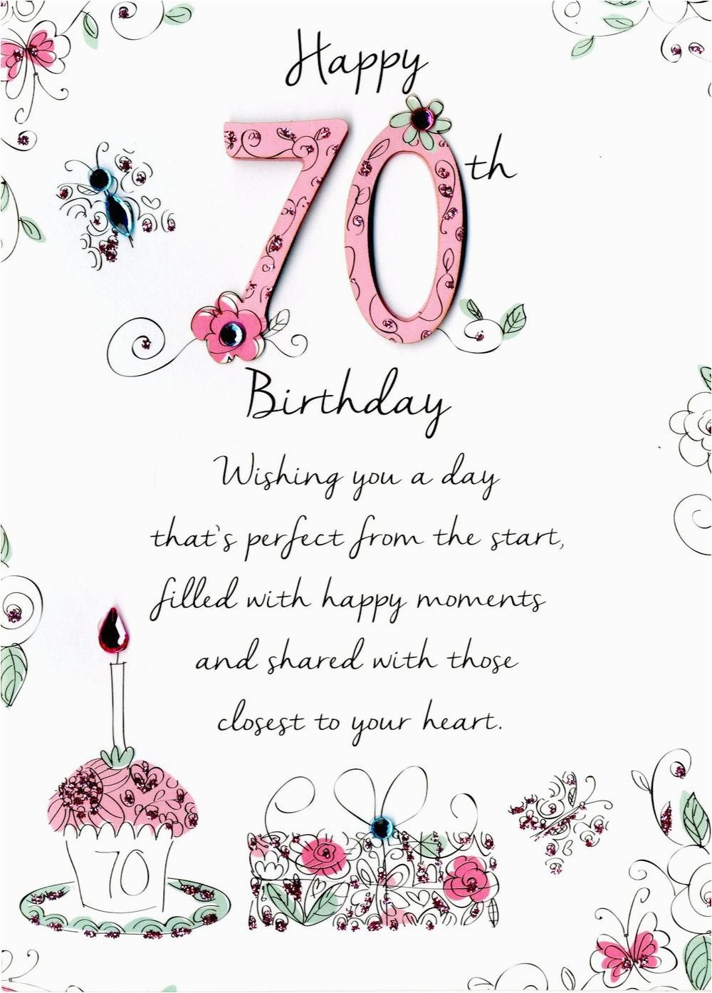kcsnjt032 female 70th birthday greeting card second nature just to say cards