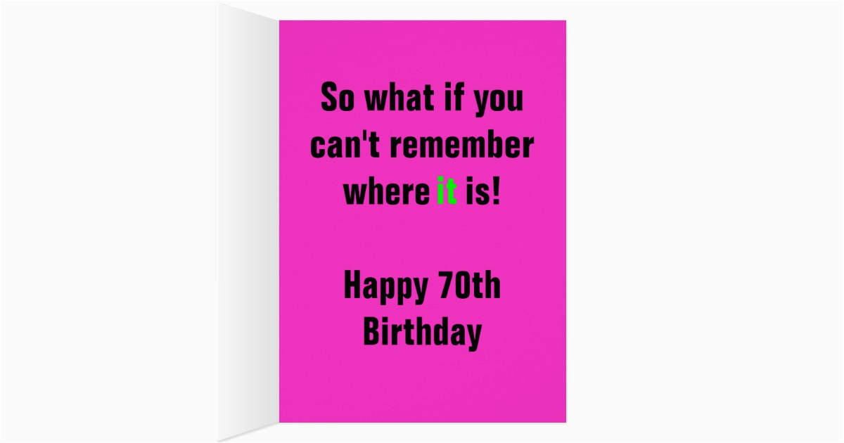 Funny 70th Birthday Cards Female Card For Women Zazzle