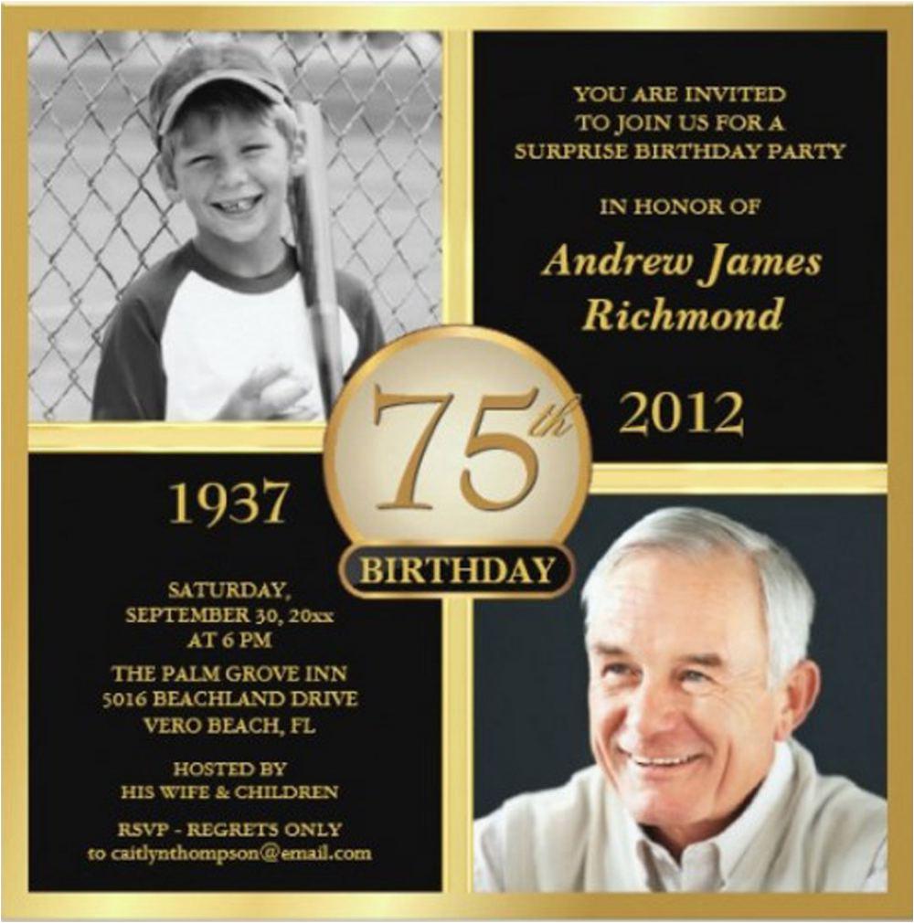 16 75th birthday invitations unique ideas birthday
