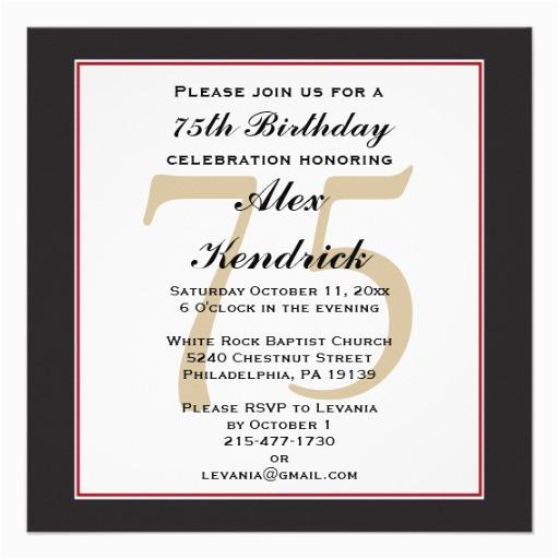 Funny 75th Birthday Invitations Invitation 5 25 Quot Square Card Zazzle