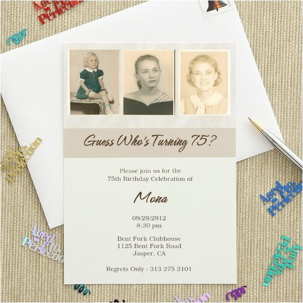 75th birthday invitations 20 gorgeous 75th party invites