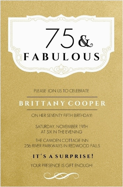 Funny 75th Birthday Invitations the Best 75th Birthday Invitations and Party Invitation