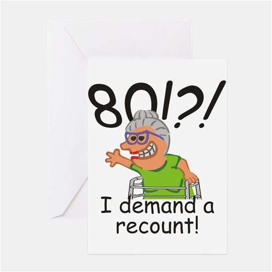 Funny 80th Birthday Cards Greeting Cafepress