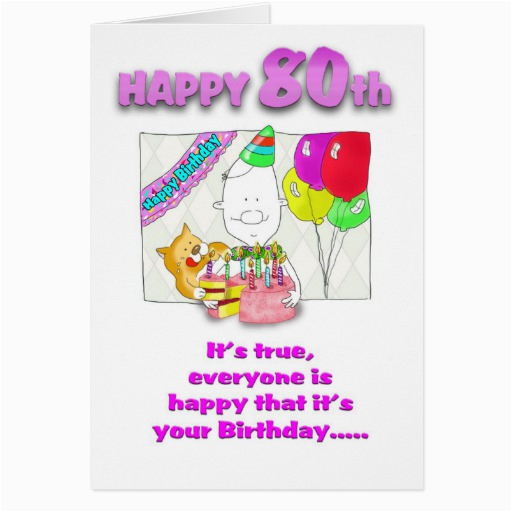 Funny 80th Birthday Cards Cake Ideas 116299 Card