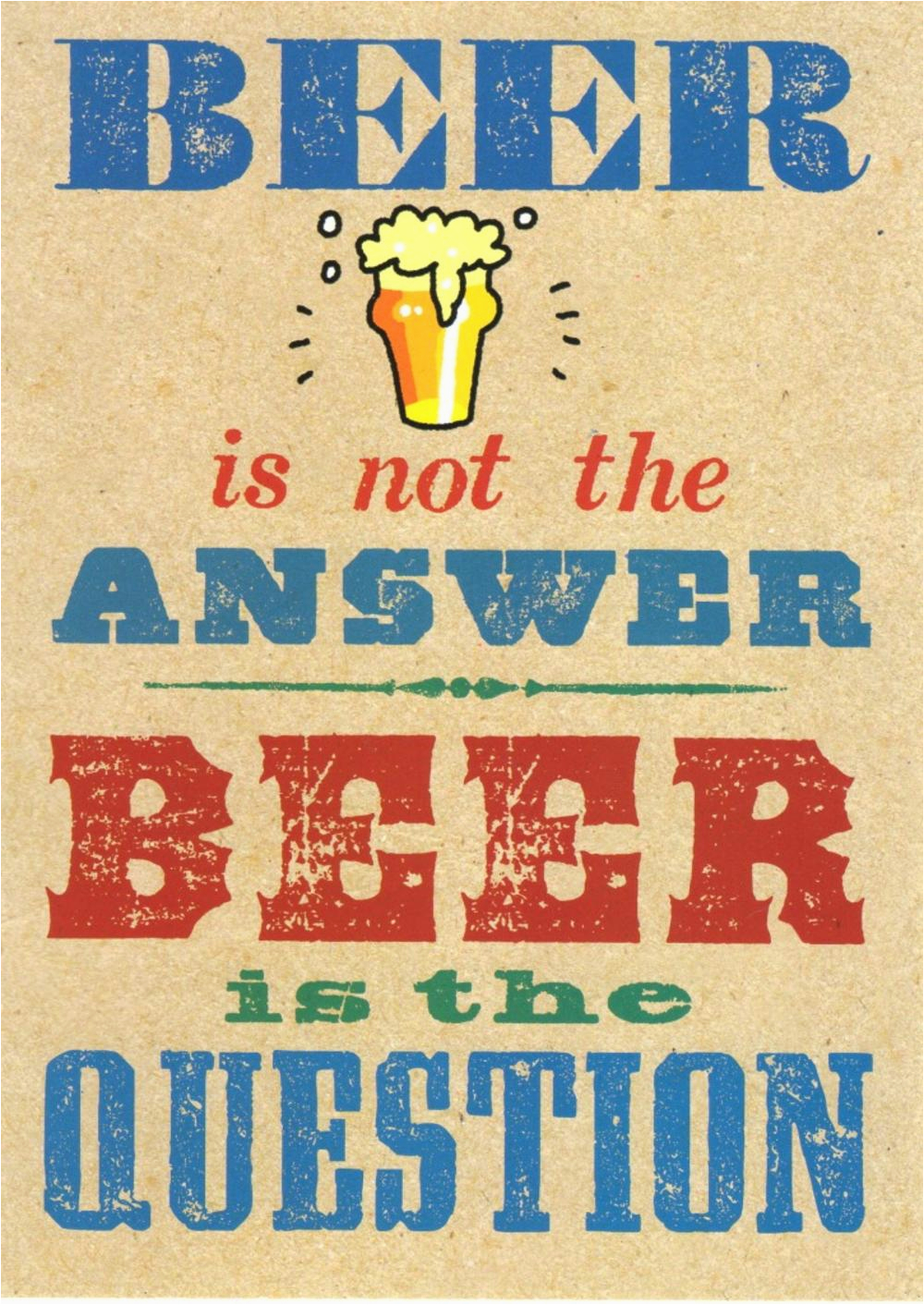 kcsnhpp010 beer is not the answer funny birthday card hot potato range greeting cards