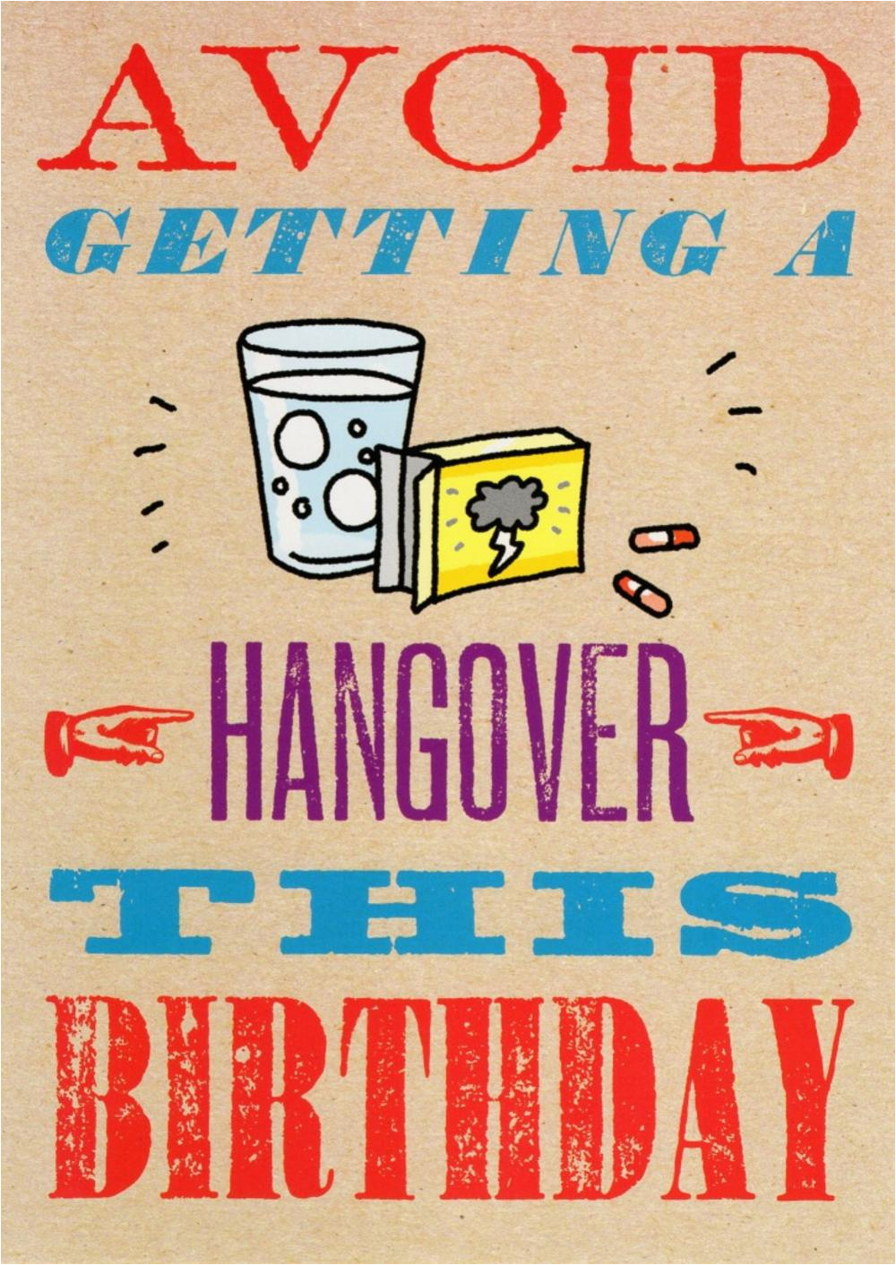 kcsnhpp002 avoid getting a hangover funny birthday card hot potato range greeting cards