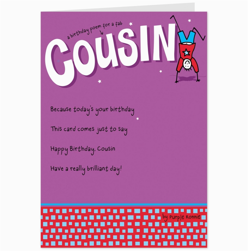 funny birthday cards for cousins card design ideas