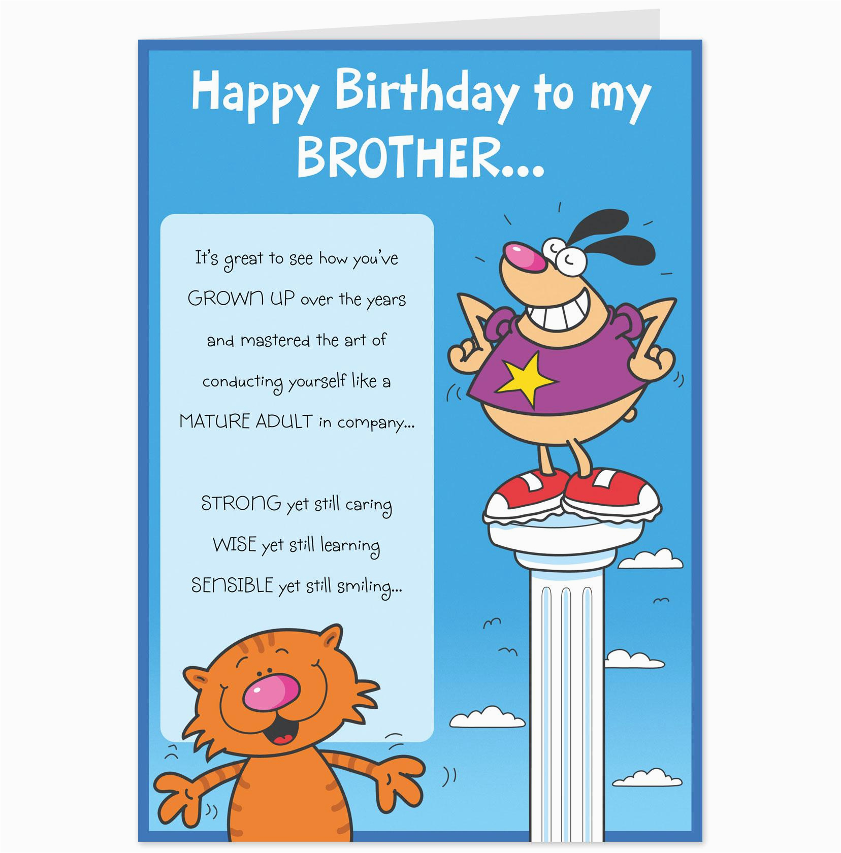 Funny Birthday Cards For Brothers Quotes Little Brother Quotesgram