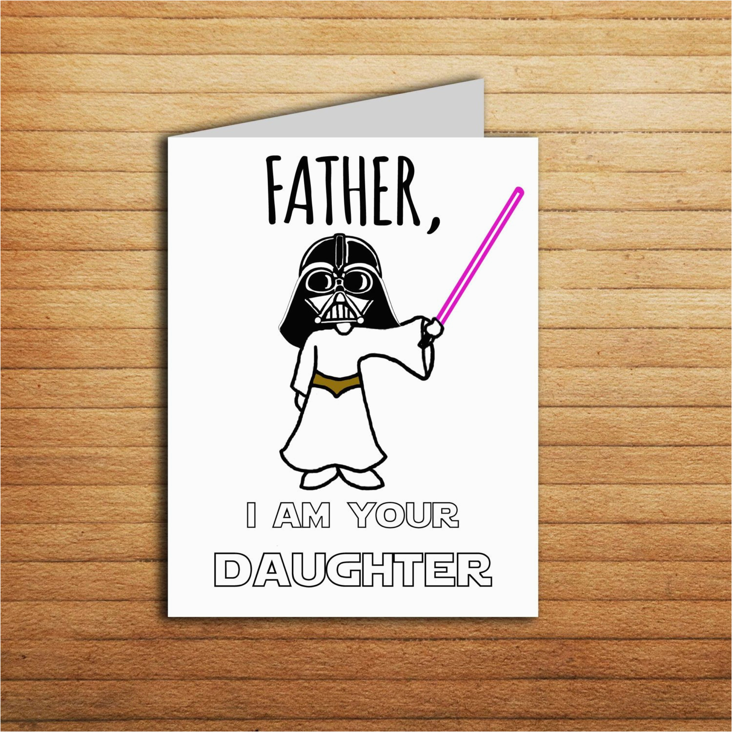 star wars christmas card birthday card for dad gift from