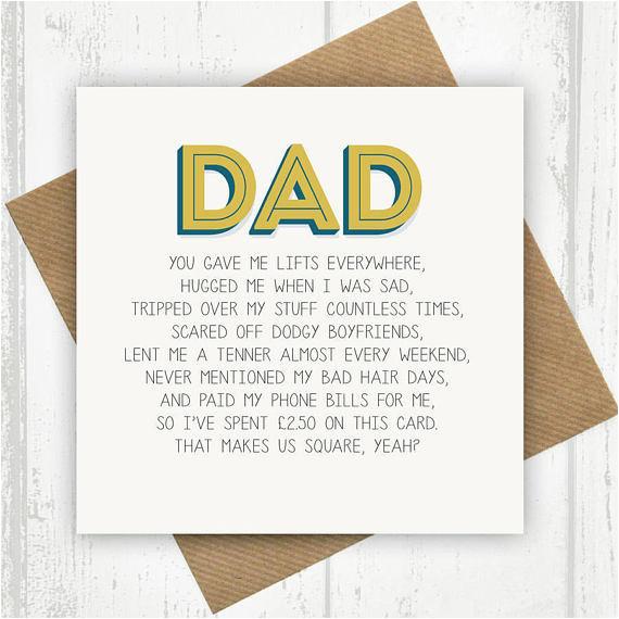 funny dad card dad birthday card funny