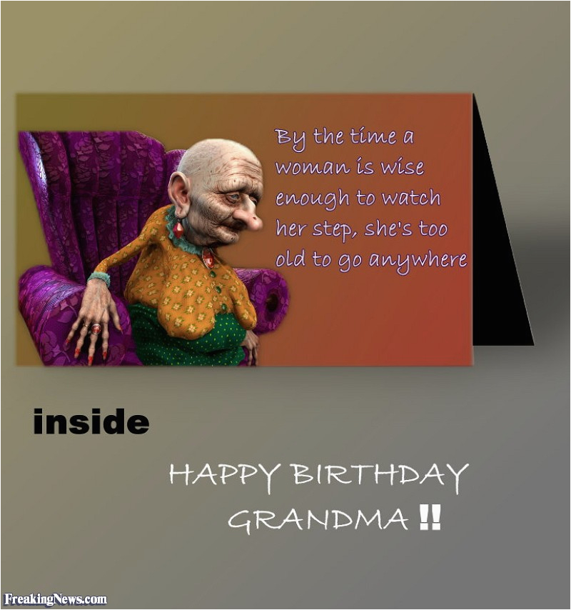 Funny Birthday Cards For Grandma Quotes Quotesgram