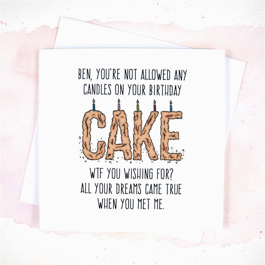 personalised wtf girlfriend boyfriend birthday card