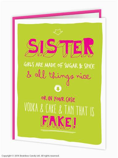 sister sugar spice birthday card brainboxcandy com