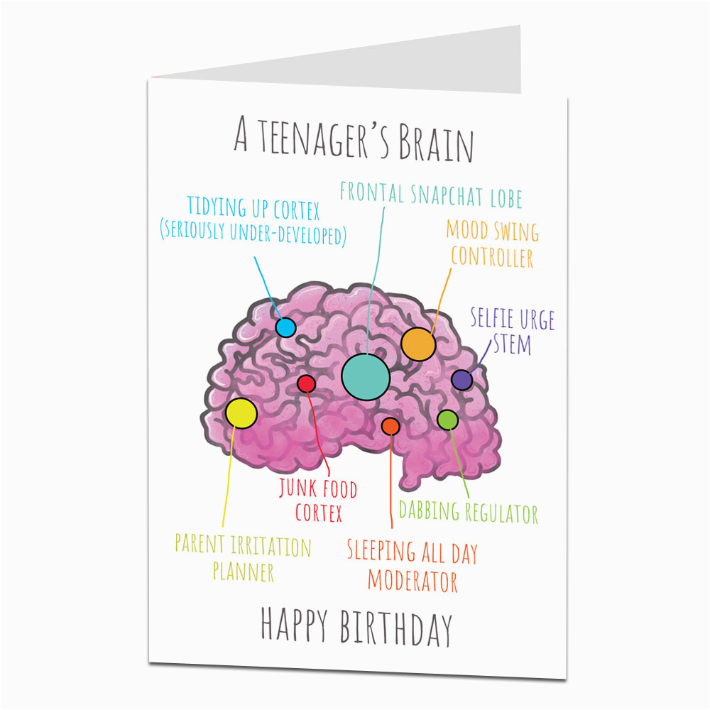 Funny Birthday Cards For Teens Teenager Card Son Daughter Limalima Co Uk