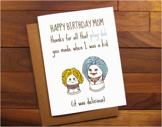 funny birthday card for mother funny play doh card funny