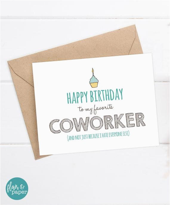 Funny Coworker Birthday Cards Card