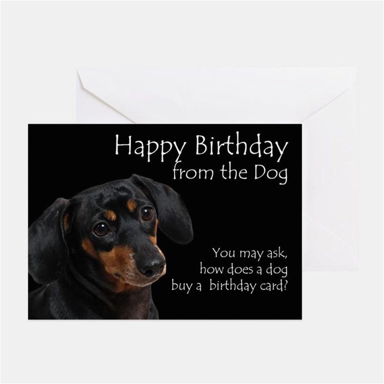 Funny Dachshund Birthday Cards Stationery Invitations Greeting