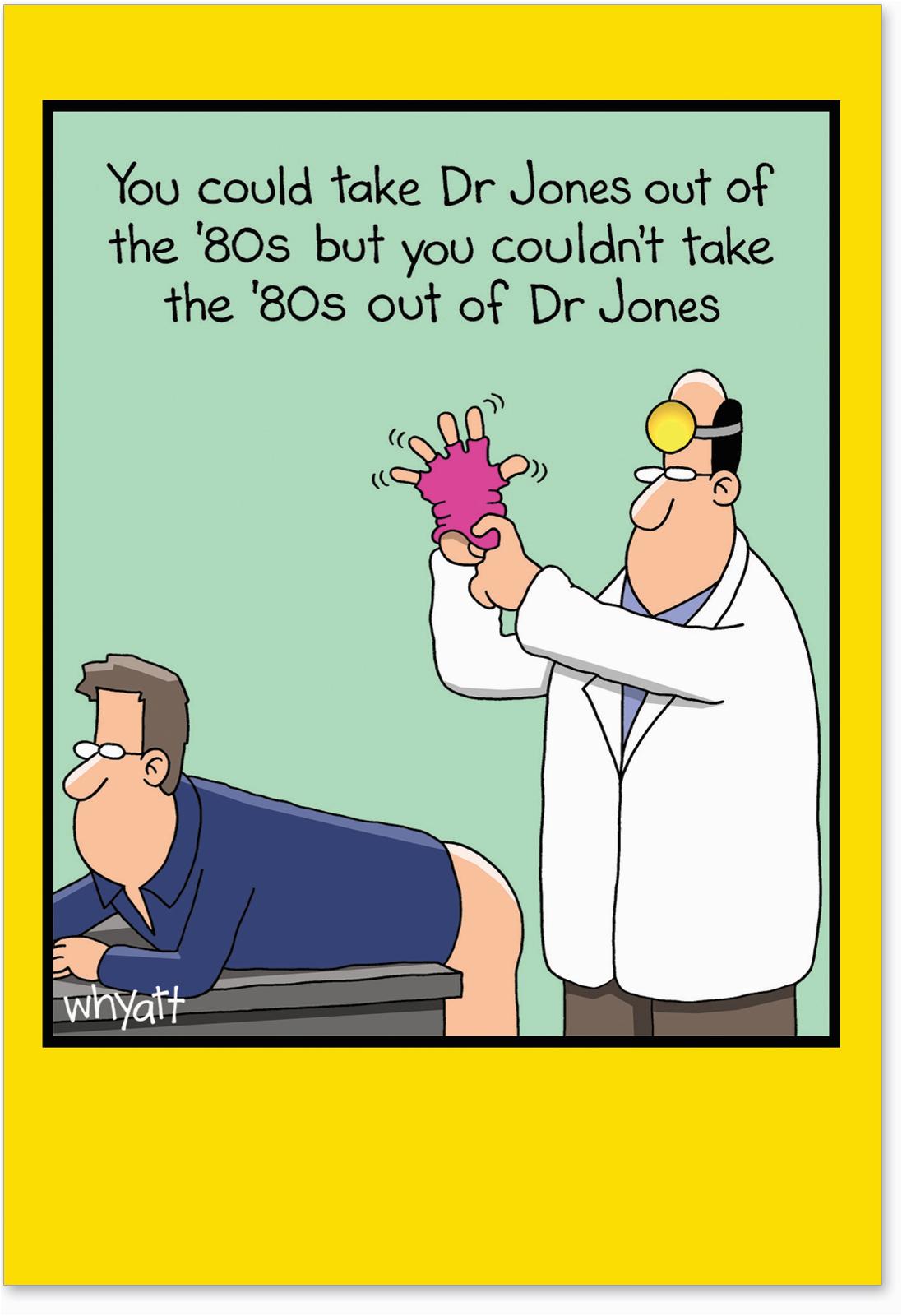 j4473 jumbo funny birthday card dr jones get well with