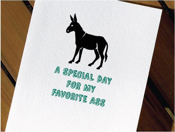 Funny Donkey Birthday Cards Donkey Funny Birthday Card