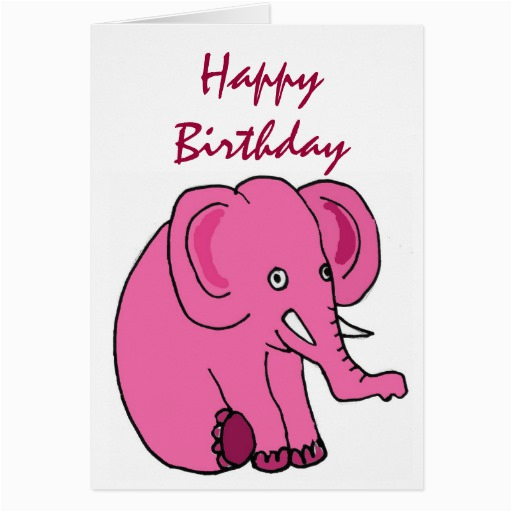 ae funny elephant birthday card zazzle