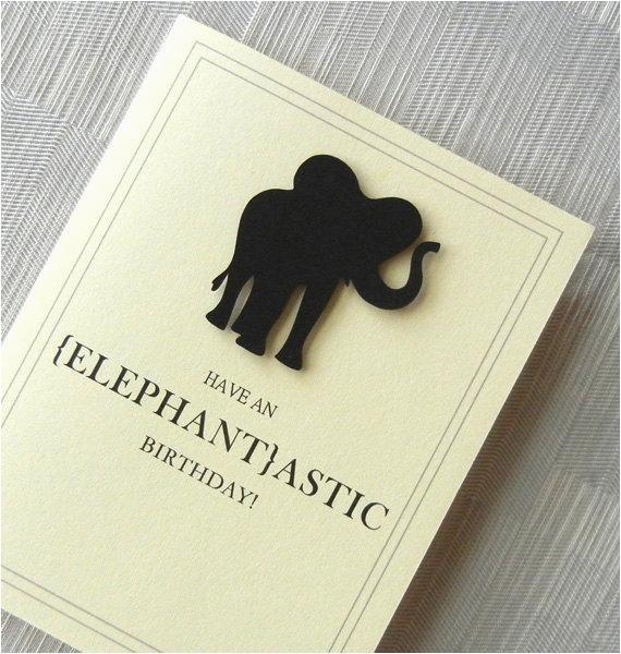 Funny Elephant Birthday Card Design Context Animal Greeting Cards