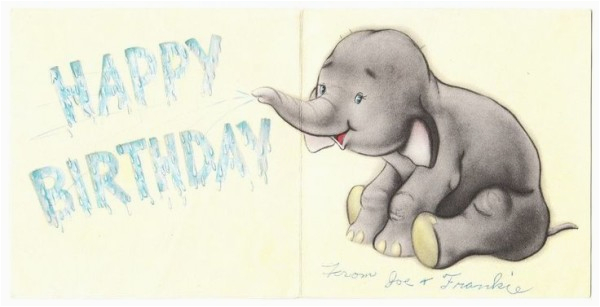 happy birthday wishes with elephants