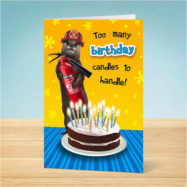 Funny Firefighter Birthday Cards Card Weasel Fireman Garlanna Greeting