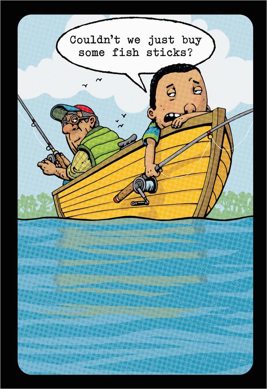 Funny Fishing Birthday Cards Fish Sticks Card Greeting Hallmark Of