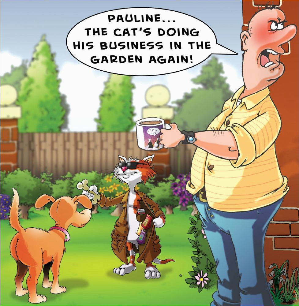 Funny Gardening Birthday Cards Funny Cat Card Fra6
