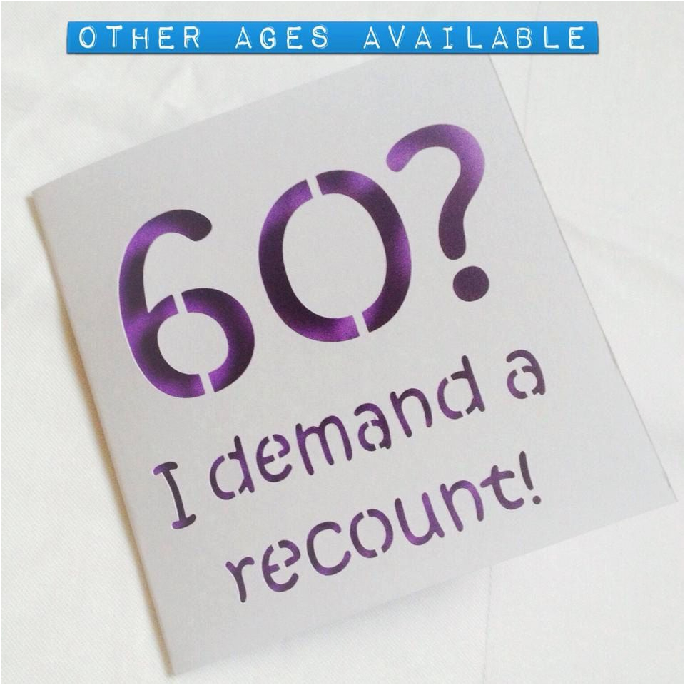 Funny Male 60th Birthday Cards Card For
