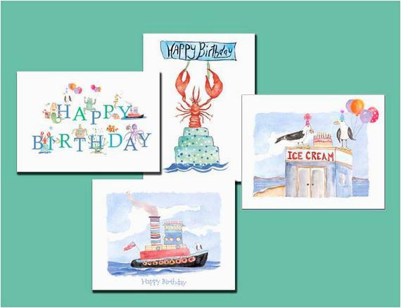 birthday cards nautical childrens