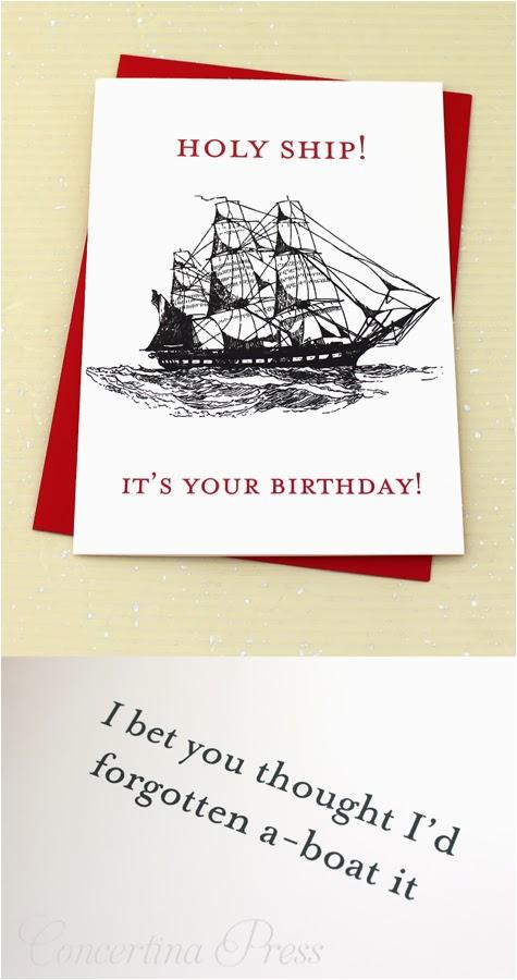 funny nautical birthday card