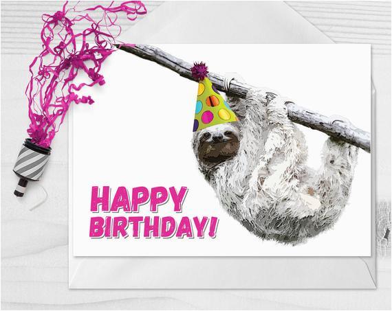 birthday sloth sloth card sloths smiling sloth