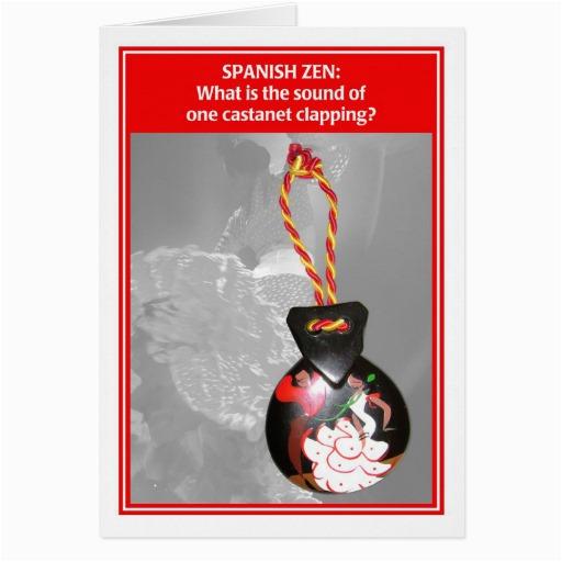 Spanish Zen One Castanet Funny Birthday Card 137159775916820578