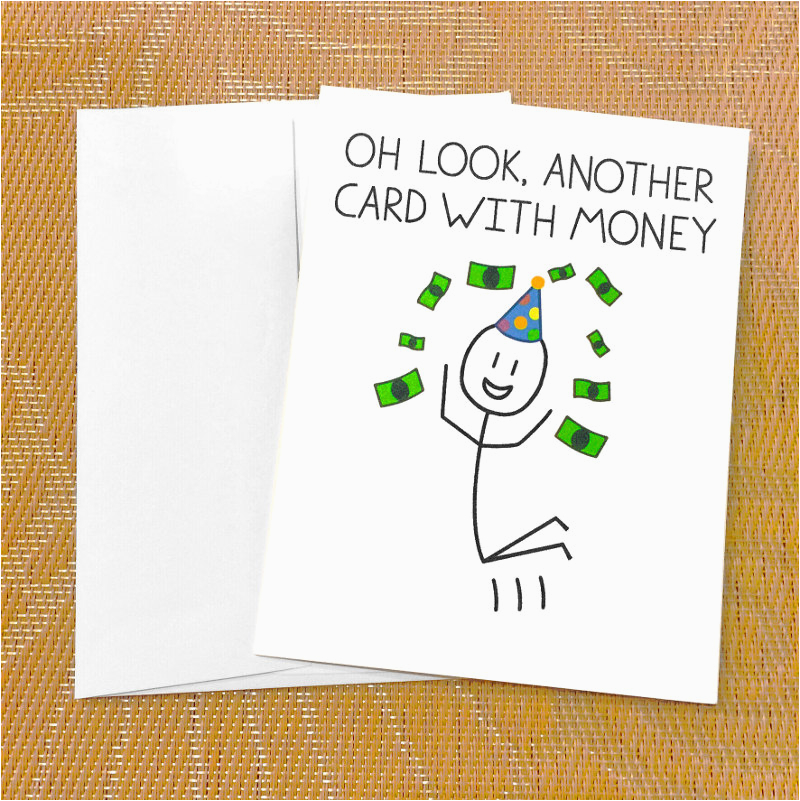 Funny Teenage Birthday Cards Funny Birthday Card for Teen Funny Money Card Oh Look