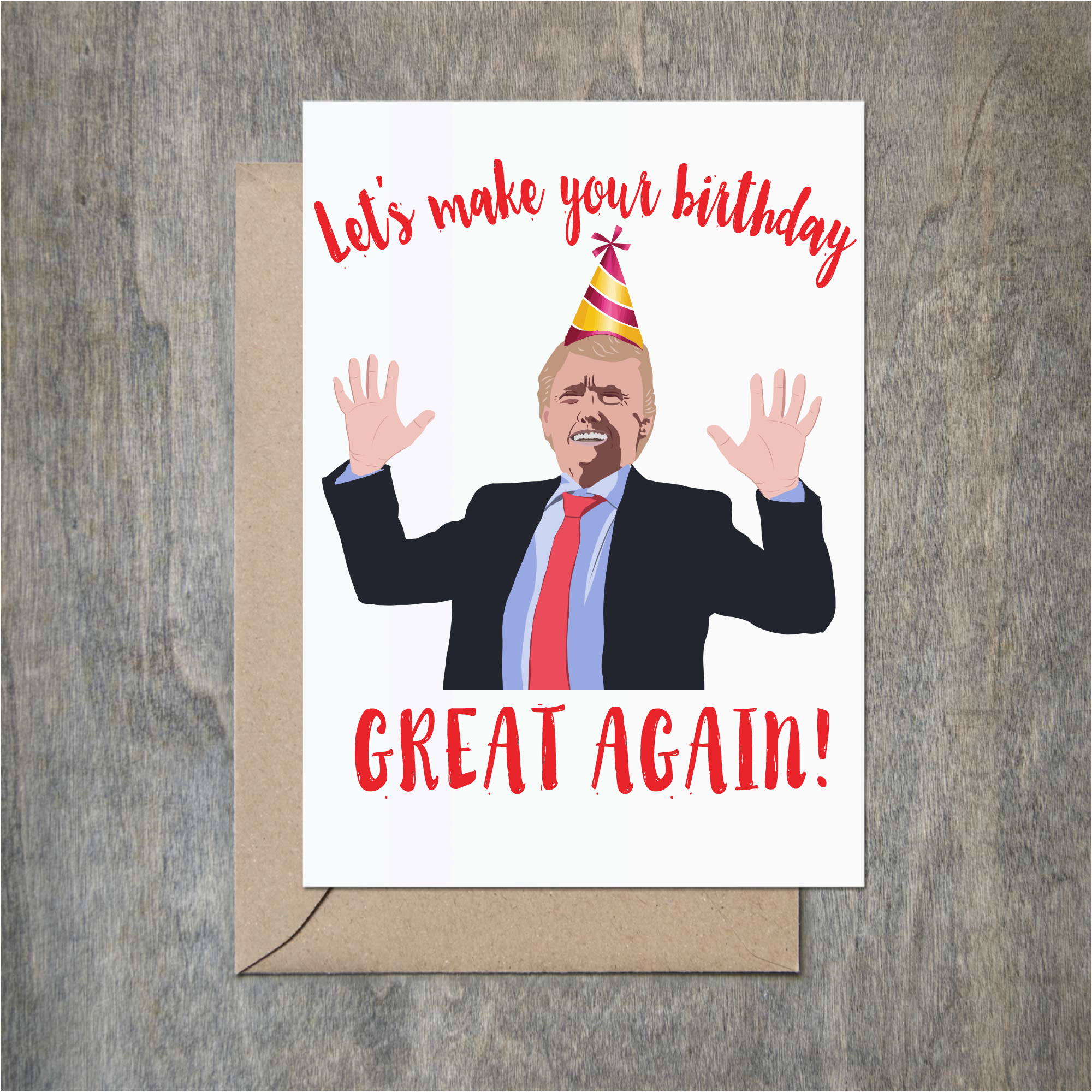funny birthday card donald trump birthday great again