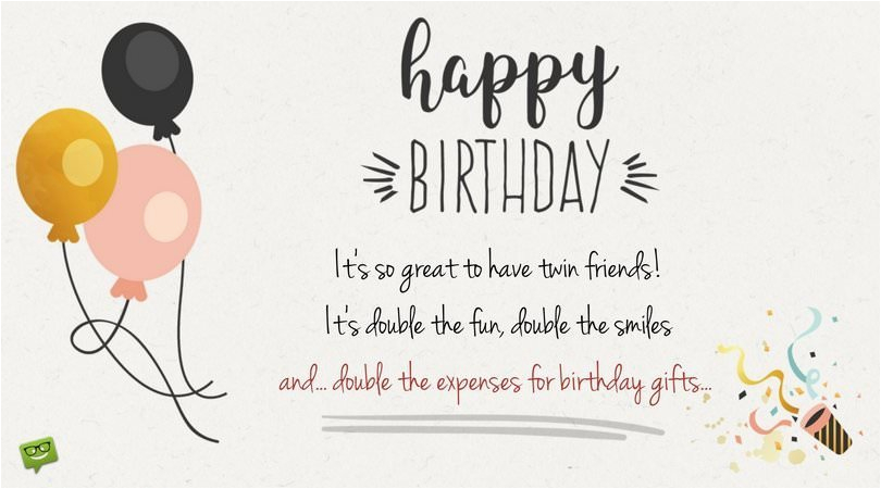 Funny Twin Birthday Cards Happy To You And Wishes For Twins