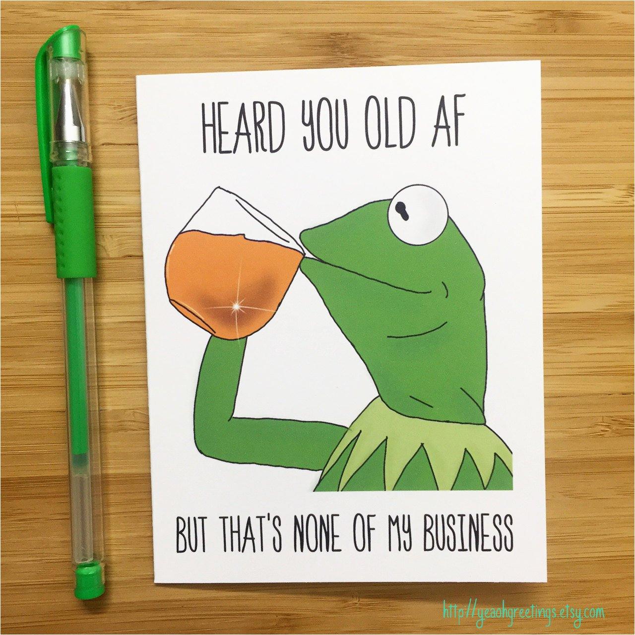 funny birthday card kermit the frog