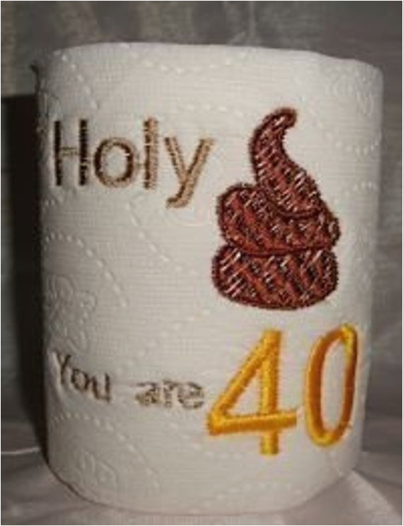40th birthday gag gift funny toilet paper