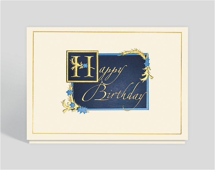 gilded birthday wishes card 300255