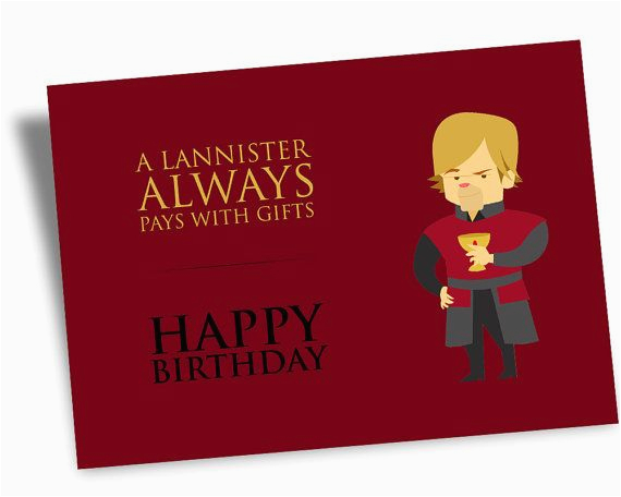 Game Of Thrones Happy Birthday Card Printable Digital