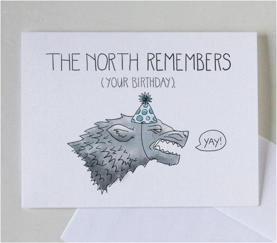 the north remembers your birthday 4 x 6