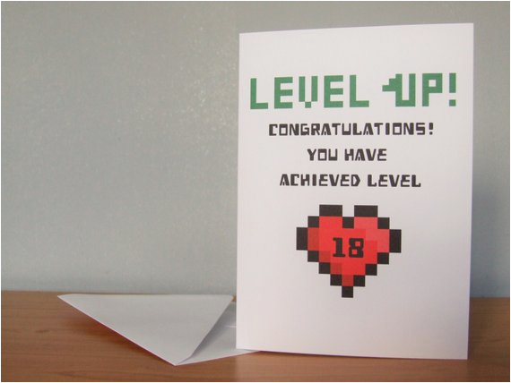 level up birthday card level up gaming card by