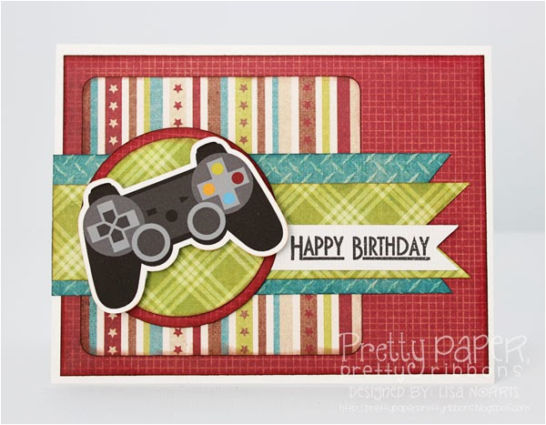 Gamer Birthday Cards Pretty Paper Ribbons Card New