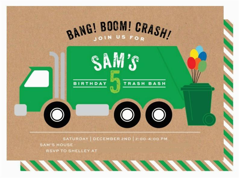 trash truck birthday party