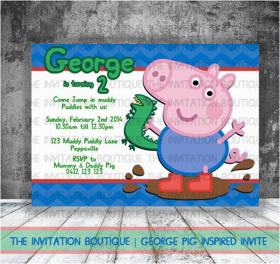 George Pig Birthday Invitations Dinosaur Invitation Peppa By