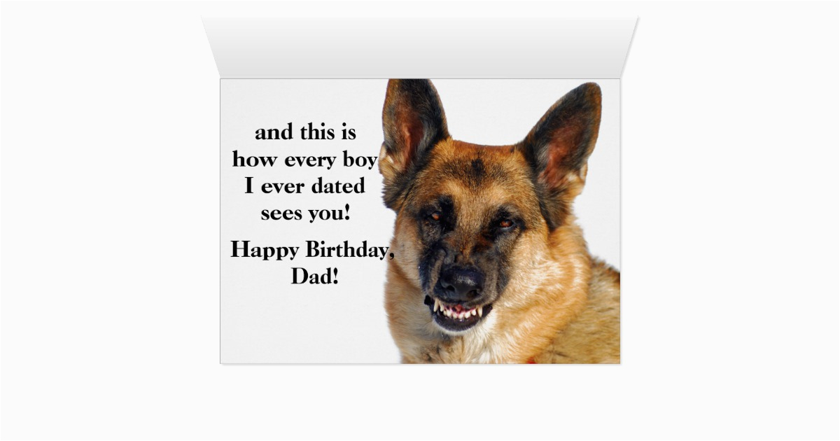 german shepherd birthday card for dad zazzle com