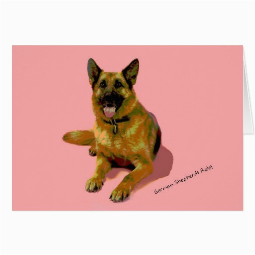 german shepherd birthday card zazzle