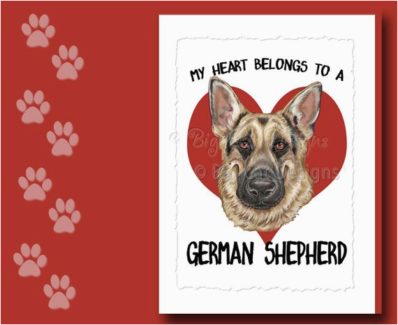 german shepherd card german shepherd greeting card german