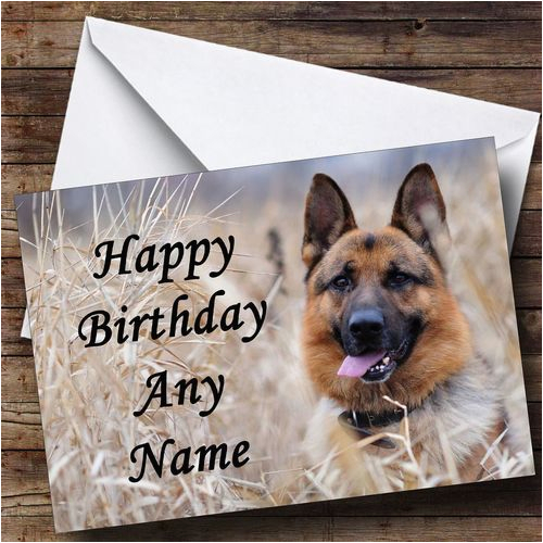german shepherd dog personalised birthday card the card zoo